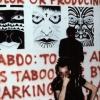 Ruth Marten installs at Punk Art, 1978
